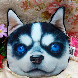 Dog Pattern Colour Splicing Zip Coin Purse - BLUE AND WHITE