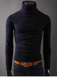 Long Sleeves Turtleneck Plain T-Shirt