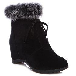 Back Zipper Closure Lace Up Ankle Boots
