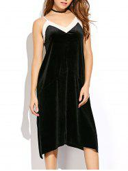 Spaghetti Strap Velvet Slip Dress