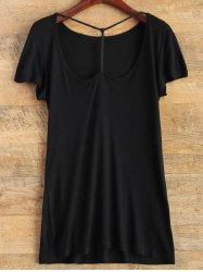 Short Sleeve Basic Tee - BLACK 2XL