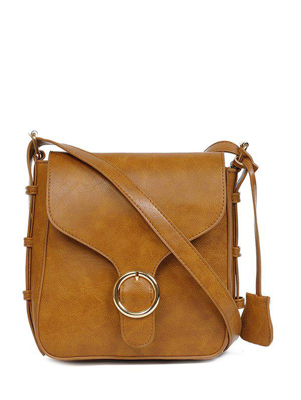 Fancy Vintage PU Leather Buckle Cross Body Bag