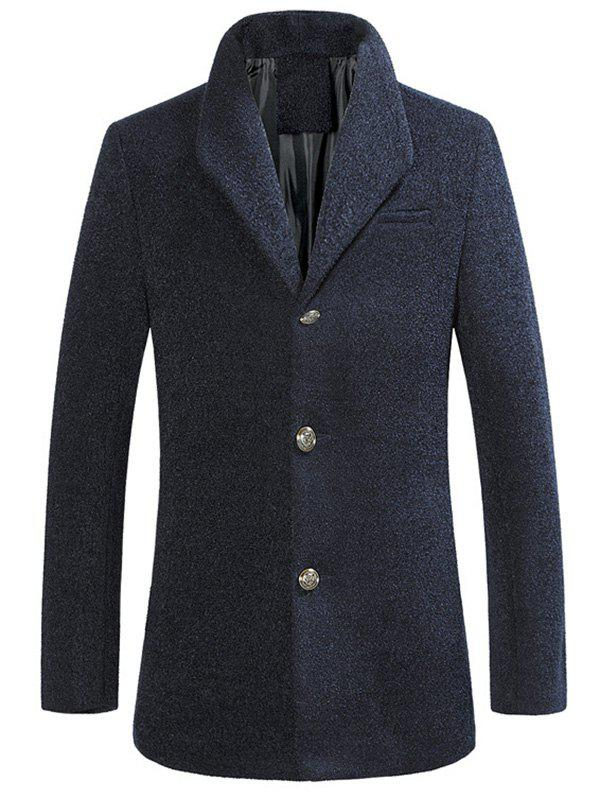 Fashion Stand Collar Single Breasted Woolen Coat