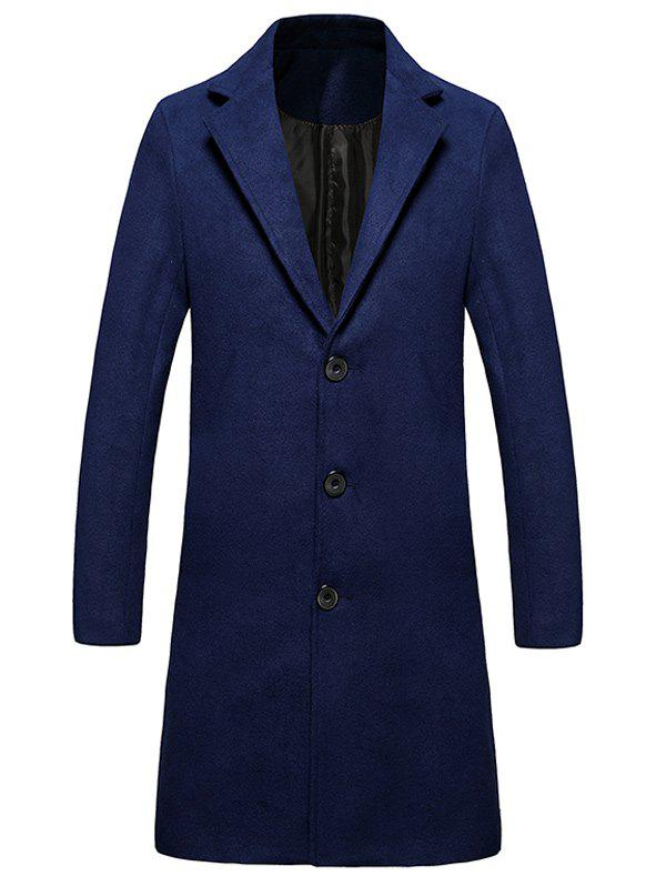 Online Single Breasted Lengthen Warmth Woolen Coat
