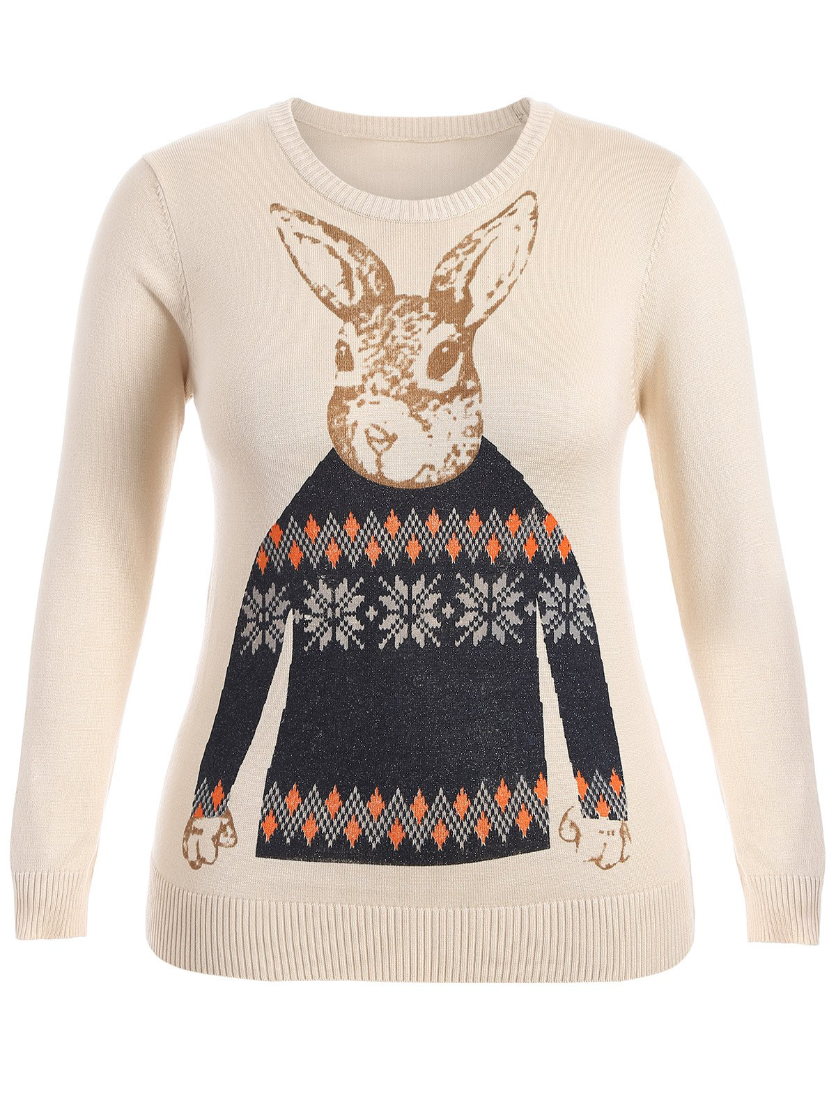 Store Rabbit Pattern Cute Plus Size Sweater
