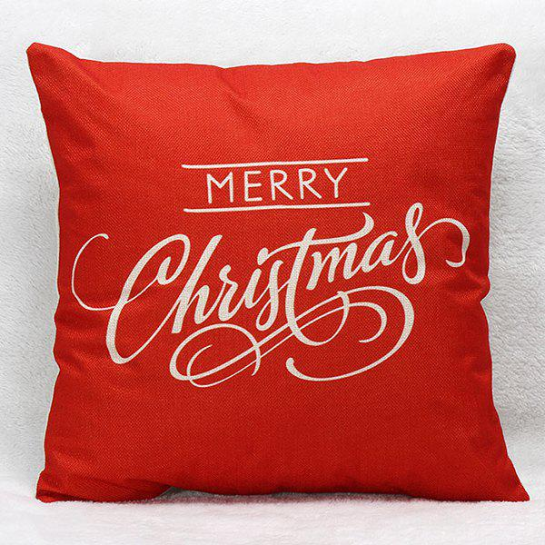 Hot Merry Christmas Letters Pillow Case