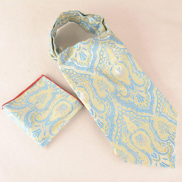 Buy Jacquard Pocket Square and Ascot Cravat Set