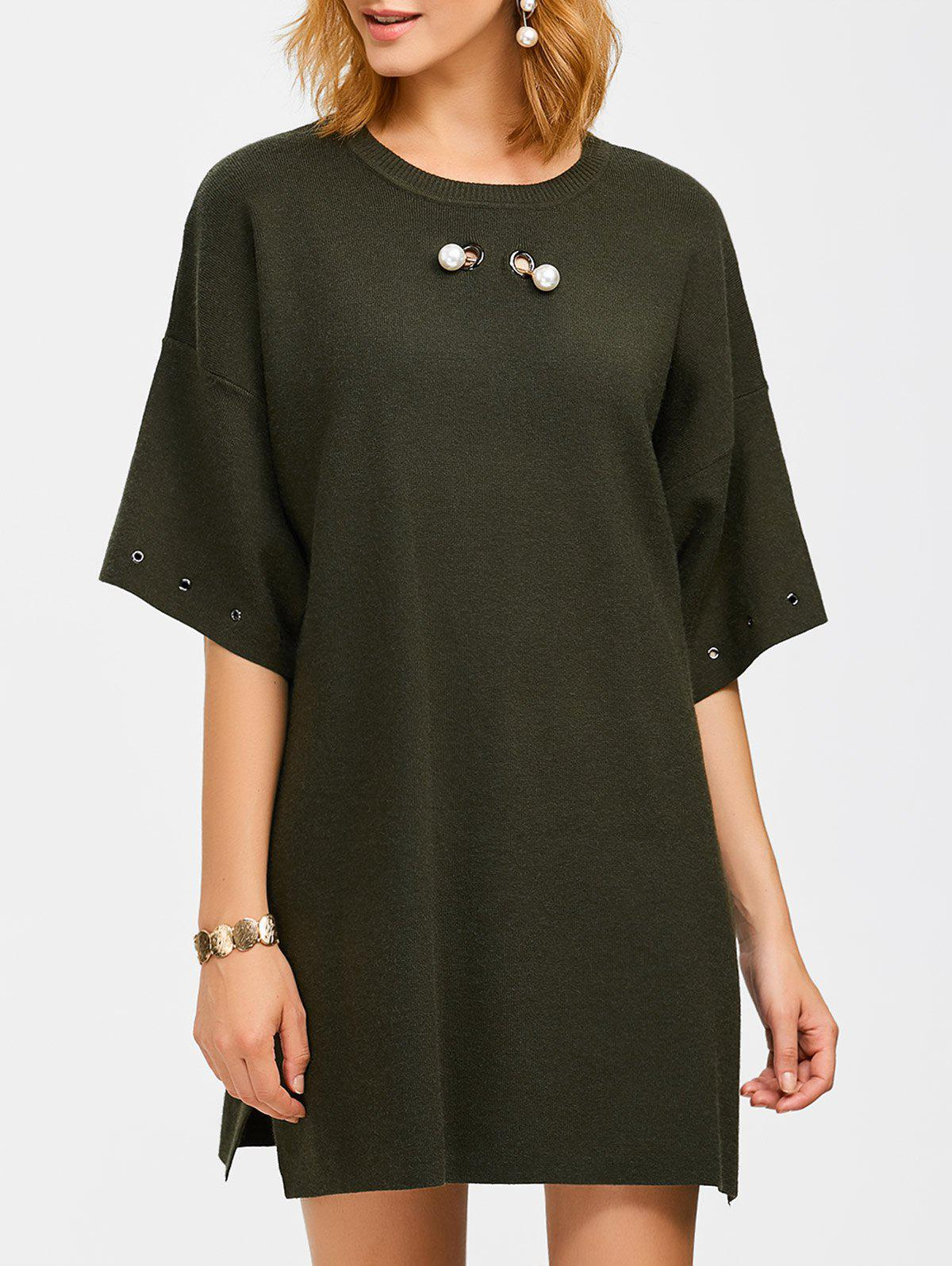 Store Crew Neck Straight Slouchy Jumper Dress