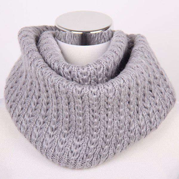 41 Off Winter Twisted Turtleneck Knitted Infinity Scarf Rosegal
