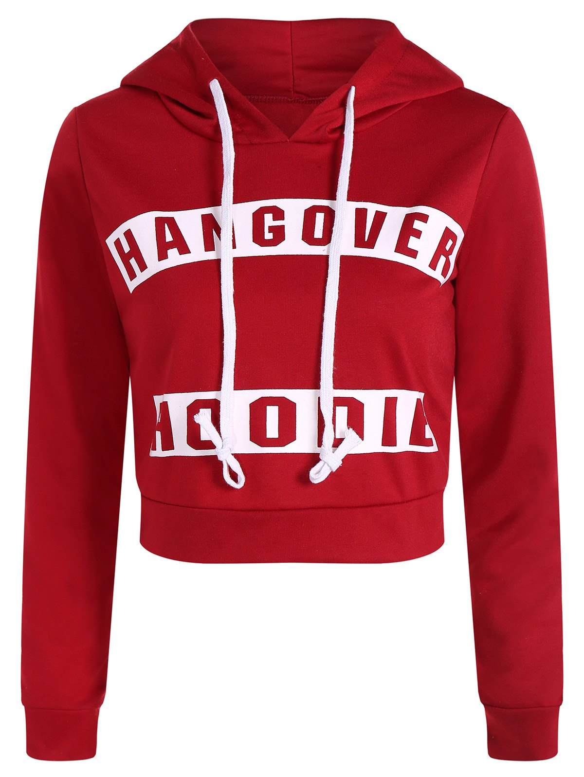 b515ea99718 Fashion Active Hangover Pattern Cropped Hoodie