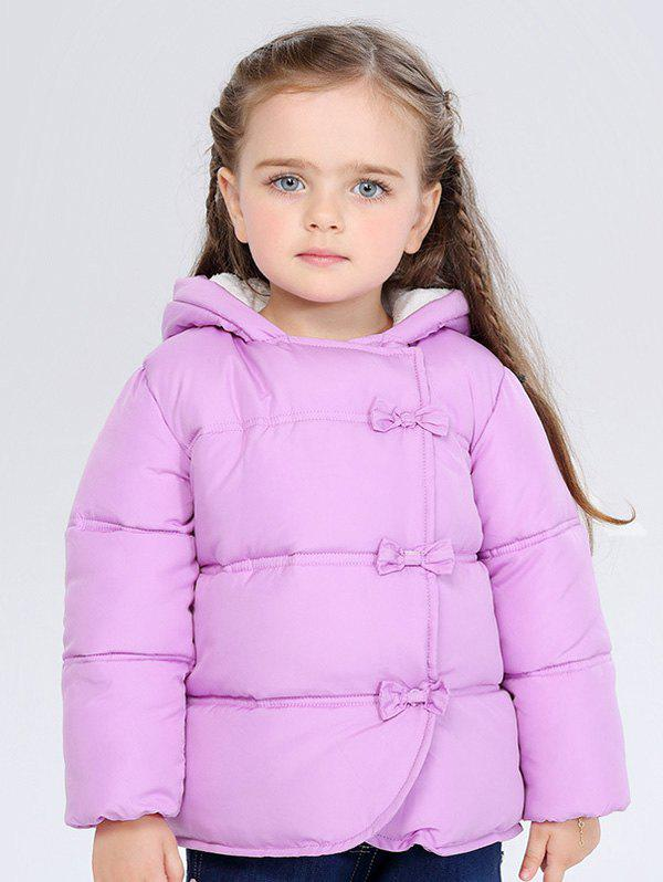 Outfit Kids Hooded Bowknot Puffer Jacket