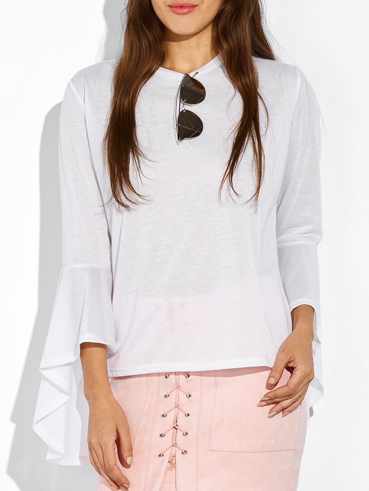 Sale Bell Sleeve Fitted T-Shirt