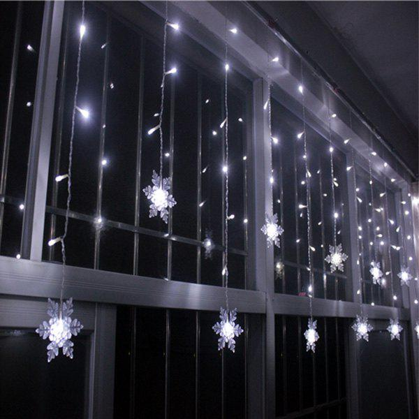 White christmas indoor decor snowflake pendant led string - Indoor string light decoration ideas ...