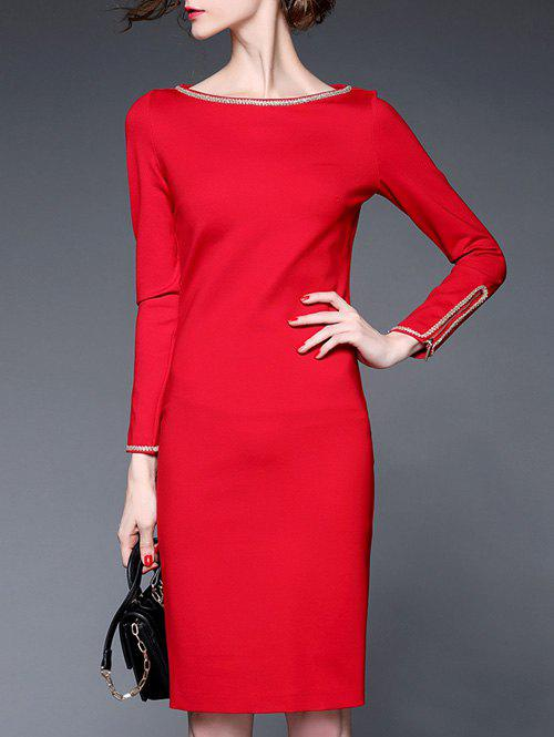 Chic Fitted Long Sleeve Pencil Dress