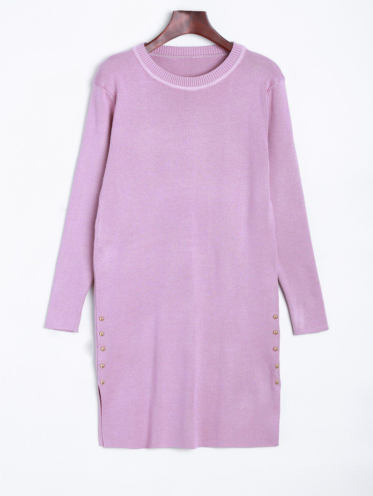 Store Longline  Fitted Knitted Pullover Sweater