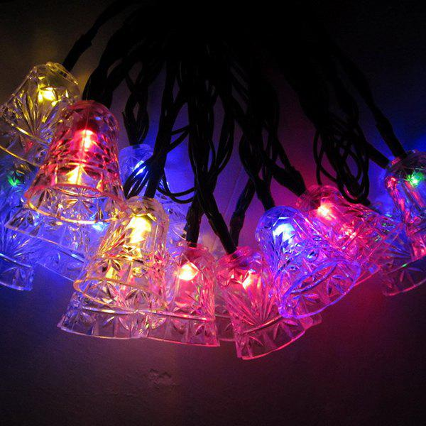 new solar power bell led string light christmas decoration supplies