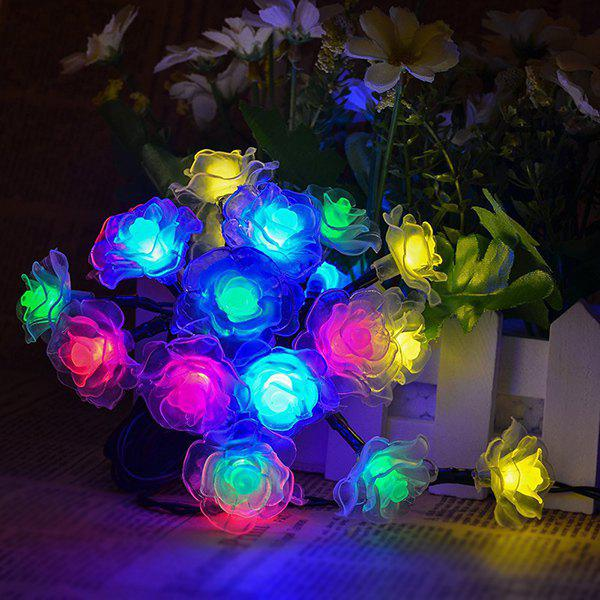 4.8M Solar Power Floral LED String Light Christmas Decoration SuppliesHOME<br><br>Color: COLORFUL; Event &amp; Party Item Type: Party Decoration; Occasion: Christmas,Party; Length: 4.8M; Weight: 0.210kg; Package Contents: 1 x Lights (Set);