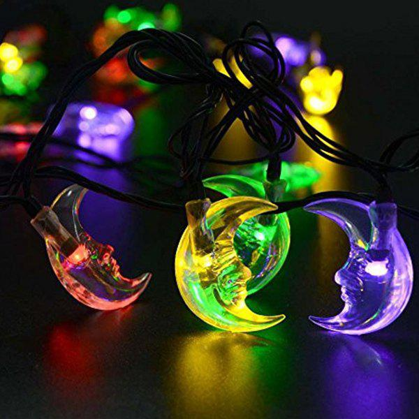 Christmas Decoration Supplies 4.8M Solar Power Moon LED String LightHOME<br><br>Color: COLORFUL; Event &amp; Party Item Type: Party Decoration; Occasion: Christmas,Party; Length: 4.8M; Weight: 0.300kg; Package Contents: 1 x Lights (Set);