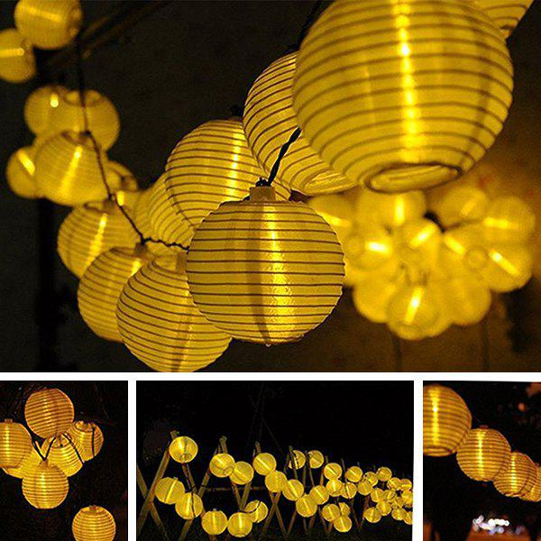 Solar Power LED Lantern String Light Christmas Decoration SuppliesHOME<br><br>Color: WARM WHITE LIGHT; Event &amp; Party Item Type: Party Decoration; Occasion: Christmas,Party; Length: 4.8M; Weight: 0.300kg; Package Contents: 1 x Lights (Set);