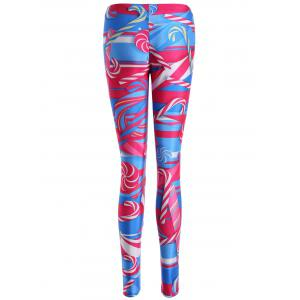 Skinny Lollipop Print Leggings - COLORMIX XL