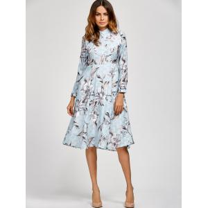 Fit and Flare Floral Printed Dress -