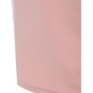 Fitted Two Tone Work Dress - NUDE PINK 2XL