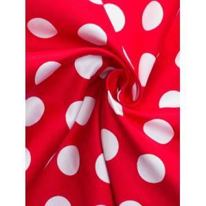 Bowknot Polka Dot Insert Swing Dress -