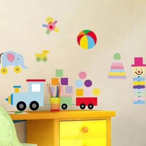 Colorful Toys Removeable Wall Sticker -