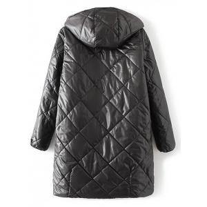 Hooded Camo Quilted Coat - CAMOUFLAGE COLOR L