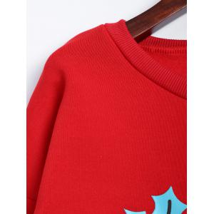 Santa Clause Christmas Fleece Sweatshirt - RED XL