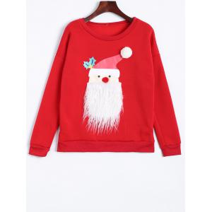 Santa Clause Christmas Fleece Sweatshirt