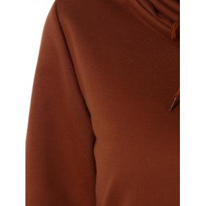 Drawstring Vertical Pockets Sweatshirt -