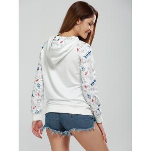 Long Sleeve Letter Print Funny Hoodie - WHITE XL
