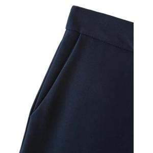 Casual Fit Suit Pants - PURPLISH BLUE L