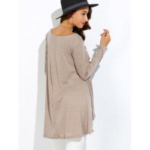 Lace Insert High Low T-Shirt -