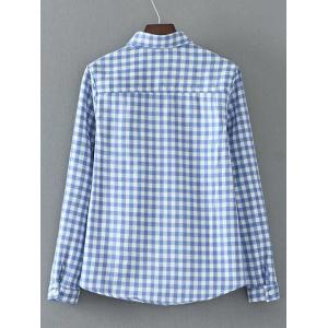 Checked Pocket Fleece Shirt -
