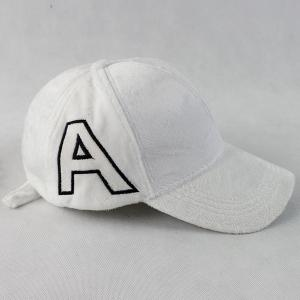 Warm Letter A Embroidery Plush Baseball Hat - White - Xl