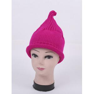Winter Teat Shape Knit Hat - Bright Pink - One Size