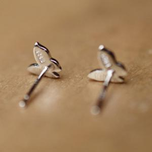 Butterfly Shape Stud Earrings - SILVER