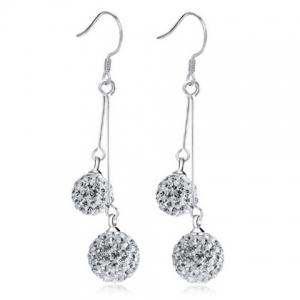Rhinestoned Balls Drop Earrings