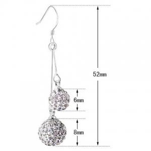 Rhinestoned Balls Drop Earrings -