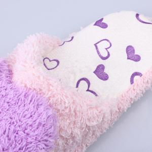 Heart Faux Fur Warm Slippers -