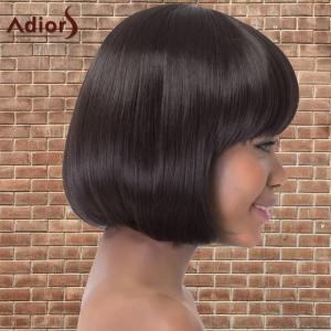 Adiors Short Bob Straight Neat Bang Synthetic Wig -