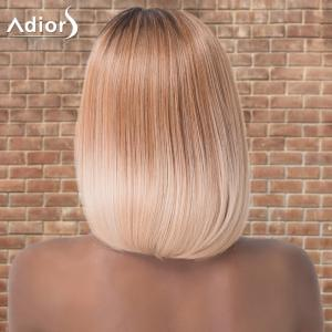 Adiors Medium Silky Straight Centre Parting Ombre Synthetic Wig -