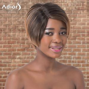 Adiors Short Ombre Straight Side Parting Synthetic Wig -