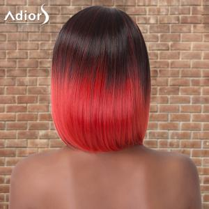 Adiors Medium Silky Straight Side Parting Ombre Synthetic Wig -