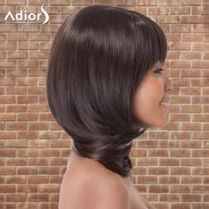 Adiors Medium Straight Oblique Bang Tail Adduction Synthetic Wig -