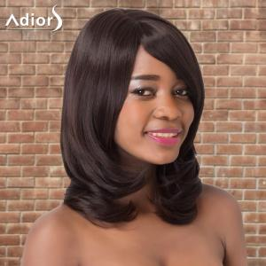 Adiors Long Straight Side Bang Tail Adduction Synthetic Wig -