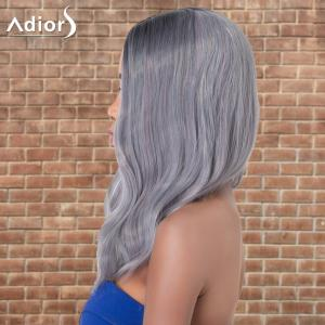 Adiors Long Slightly Curled Middle Parting Ombre Synthetic Wig -