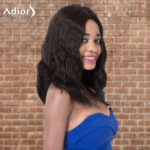 Adiors Long Wavy Middle Parting Synthetic Wig - DEEP BROWN